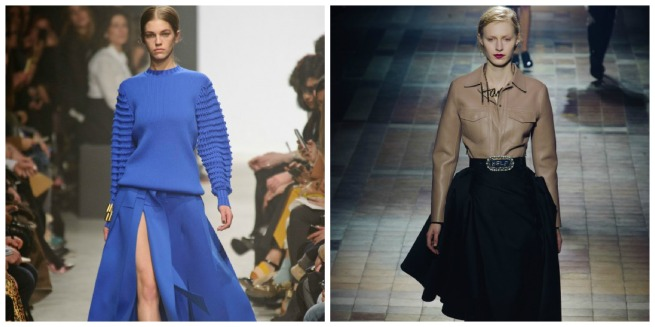 Maison Rabih Kayrouz left & Lanvin right