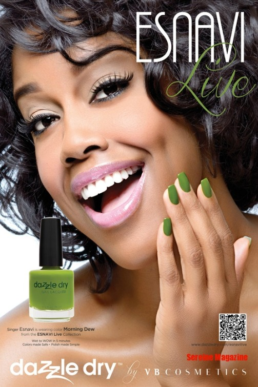Singer/Songwriter Esnavi for Dazzle dry Nail Nail Lacquer