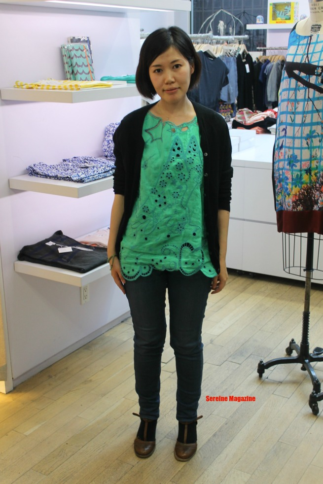 Guest/Japanese Fashion Magazine Editor attending The Tsumori Chisato Event in New York City