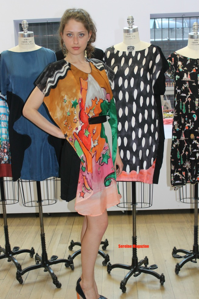 Model wearing Chisato's Arizona theme spring 13 collection