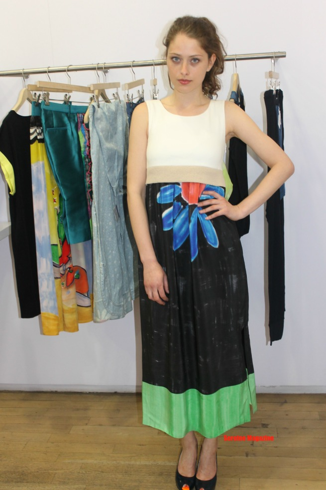 Model wearing Chisato's Arizona theme spring collection