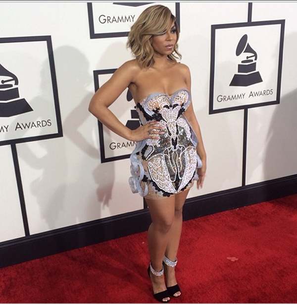 Ashanti arrives at the 2014 Grammys Awards