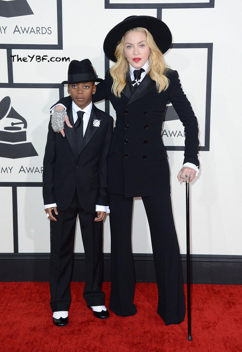 Madonna arrives at the 2014 Grammys Awards