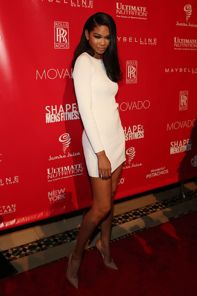 Chanel Iman  at the 2014ShapeMen Fitness SuperBowlParty