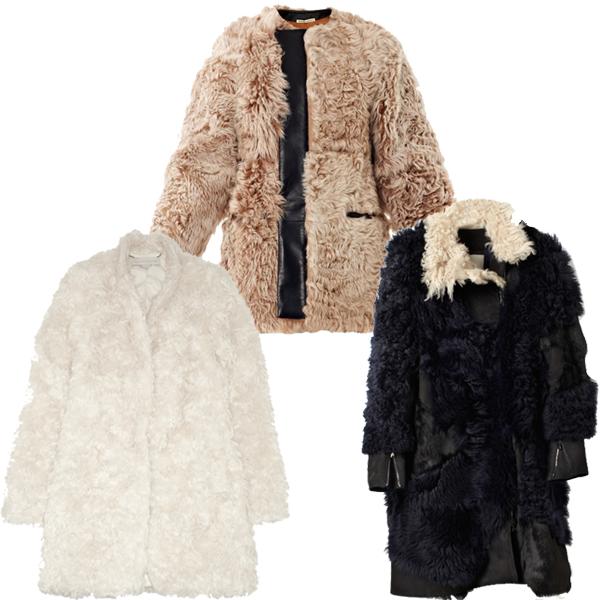 fuzzy coats Balenciaga