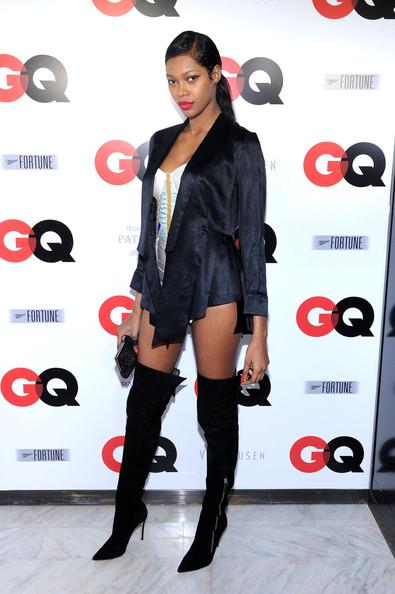 Super model Jessica White at the GQSuperBowlParty2014