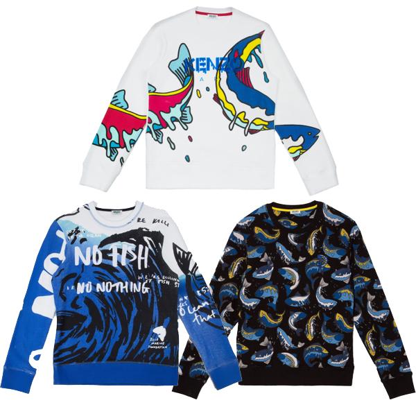 Kenzo 's fish sweatshirts
